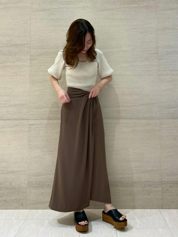 ツイストデザインスカート(BRW-0)
