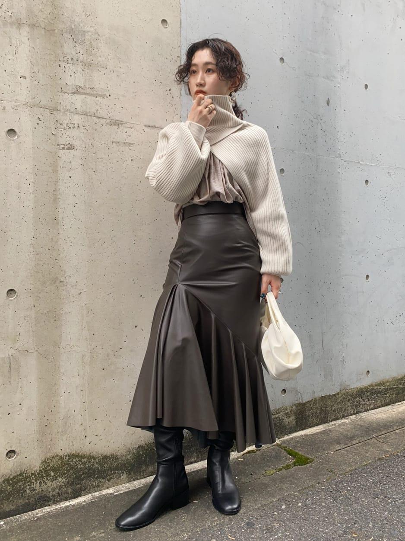 ラッフルアシメマーメイドスカート(BRW-00)