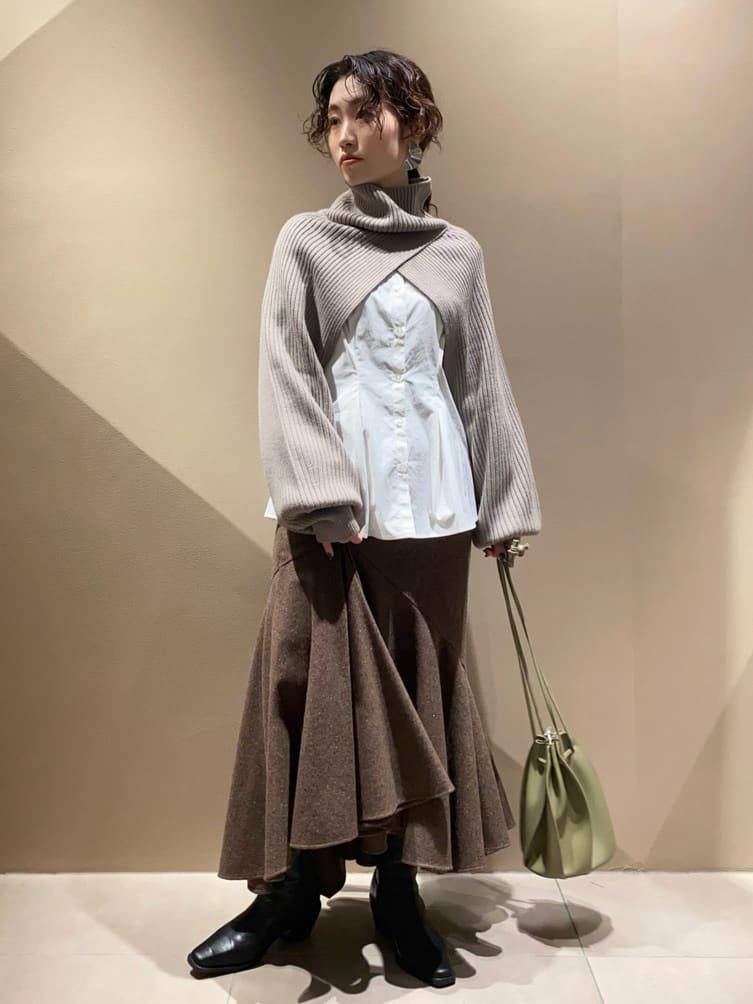 ラッフルアシメマーメイドスカート(MIX-0)
