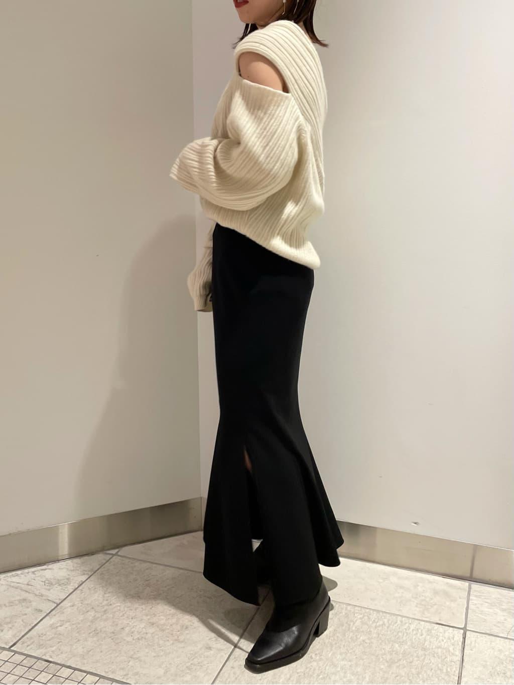 ハイウエストマーメイドスカート(BLK-0)