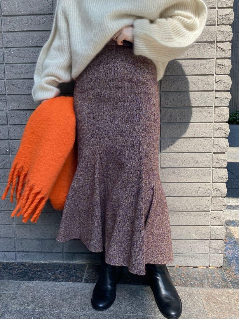 【00サイズ展開】アシメマチ切替マーメイドスカート