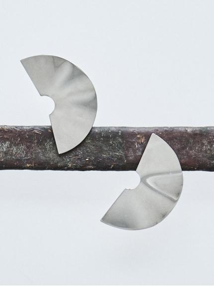 メタルプレートイヤリング(SLV-F)