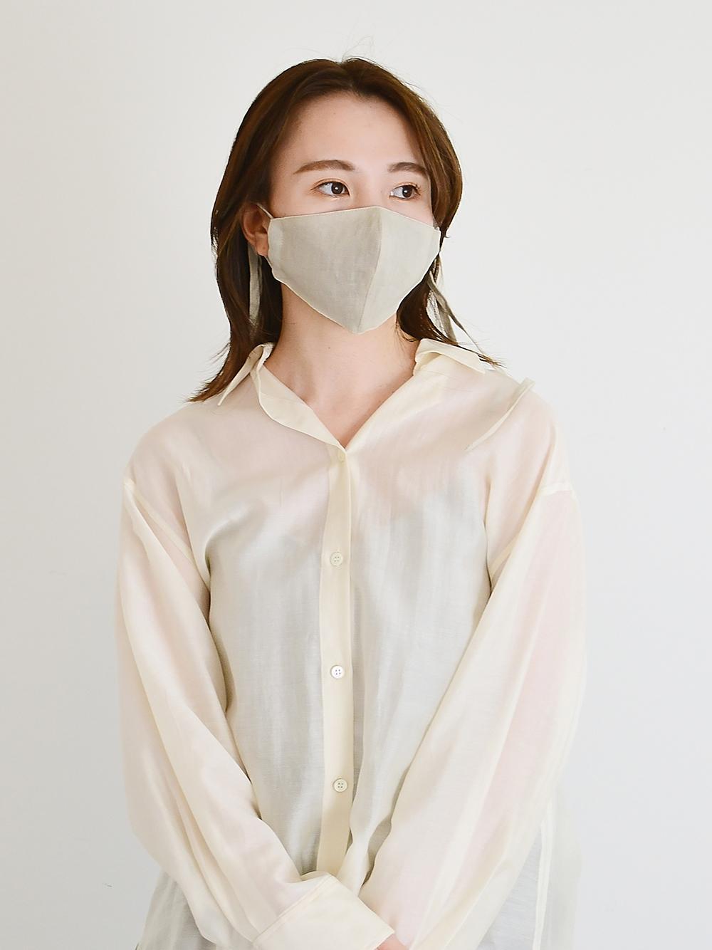 リネン混ストラップマスク(IVR-F)