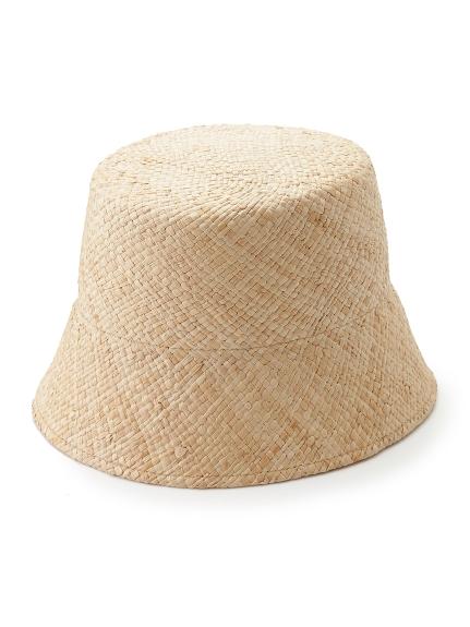 ラフィア帽体バケット(BEG-F)