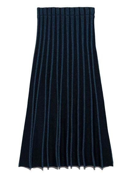 プレーティングニットスカート