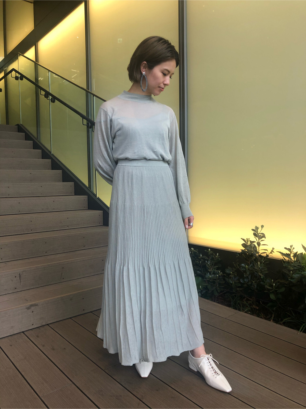 シアーニットスカート