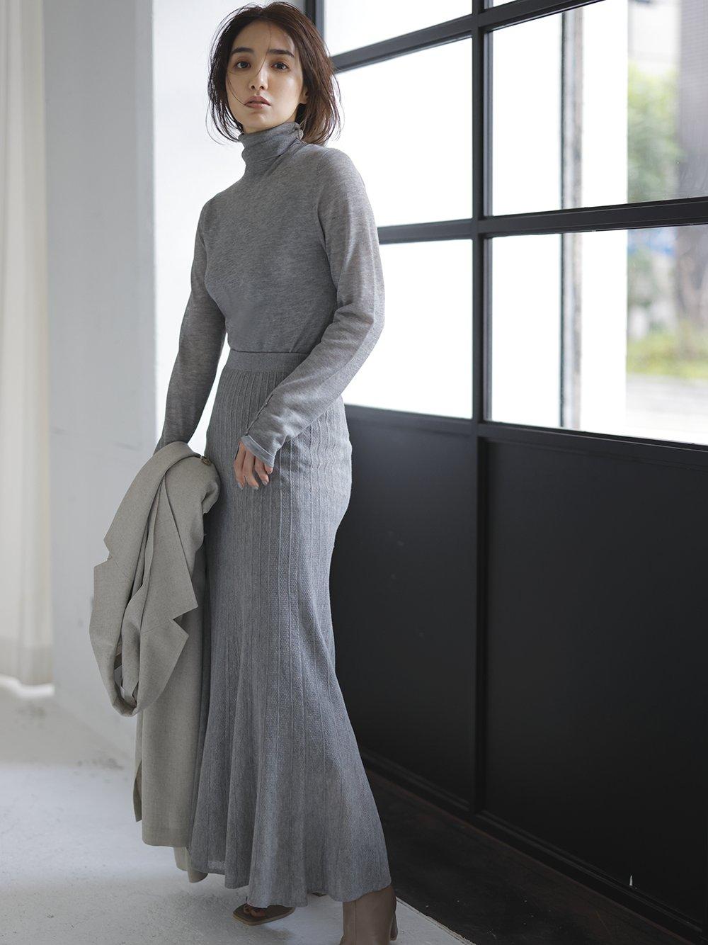 ラメシアーニットスカート
