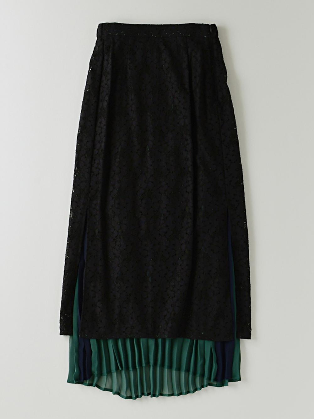プリーツレーススカート