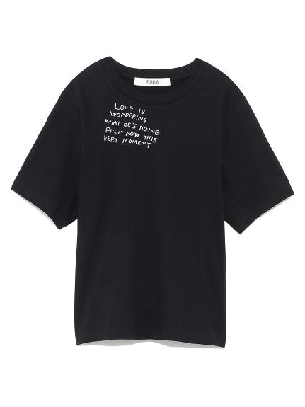 メッセージプリントTシャツ(BLK-F)