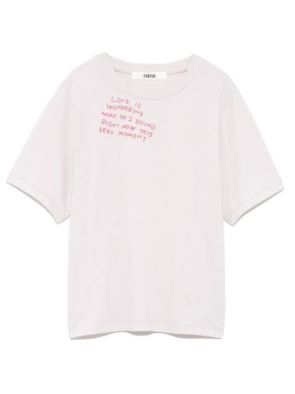 メッセージプリントTシャツ(BEG-F)