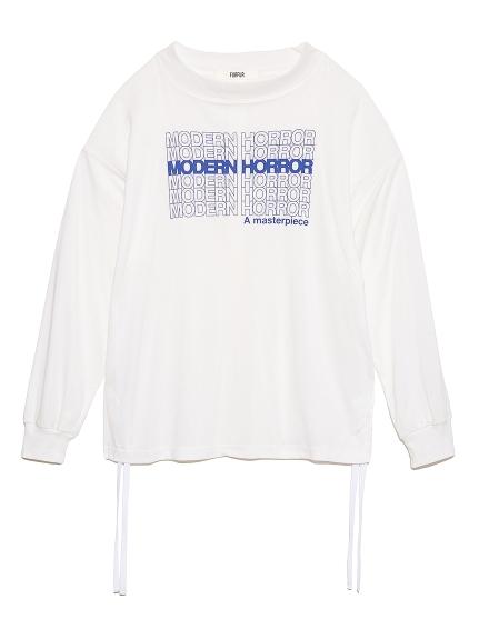 ロゴプリント長袖Tシャツ(WHT-F)