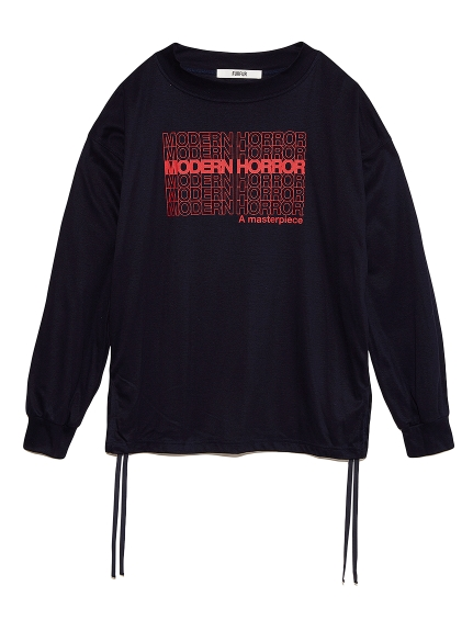ロゴプリント長袖Tシャツ(NVY-F)