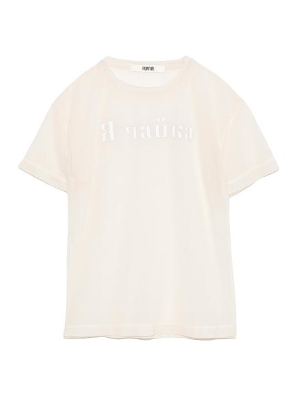 ロゴシアーTシャツ(IVR-F)