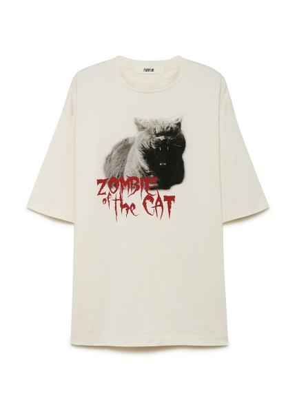 ゾンビキャットTシャツ(WHT-F)