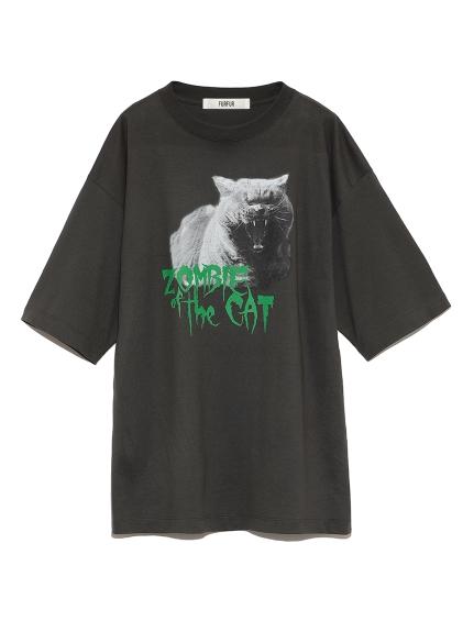 ゾンビキャットTシャツ(CGRY-F)