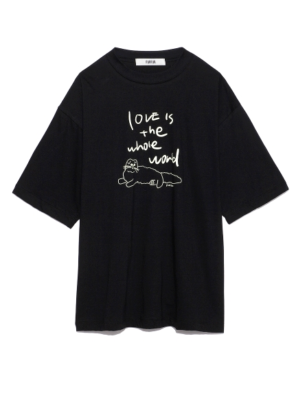プリントTシャツ(BLK-F)