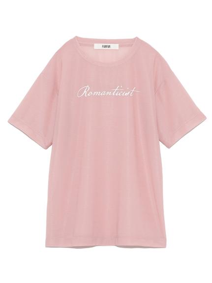 プリント入りシアーTシャツ(PNK-F)