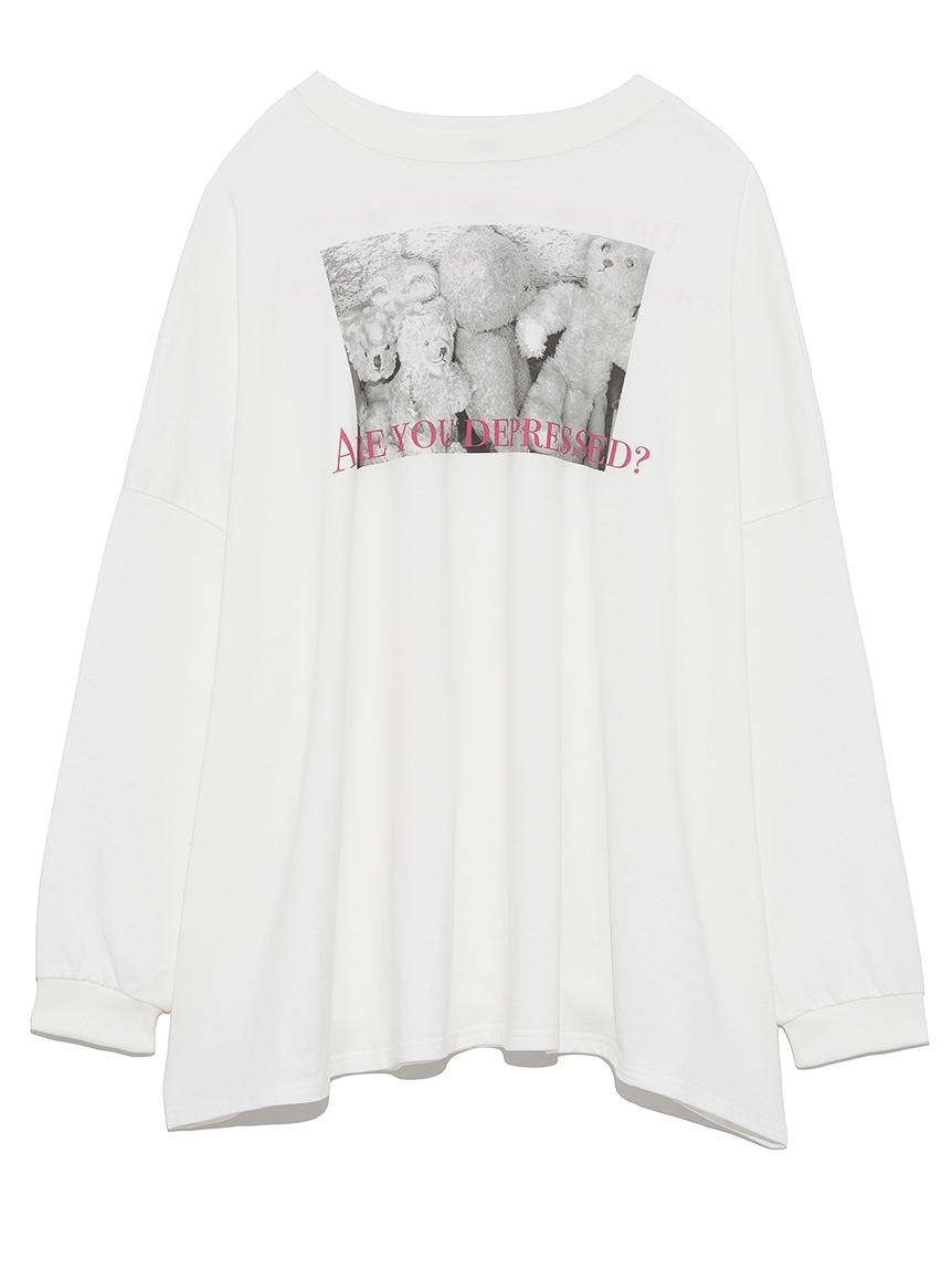 フォトプリントビッグTシャツ(WHT-F)