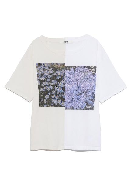 ハーフデザインプリントTシャツ(IVR-F)