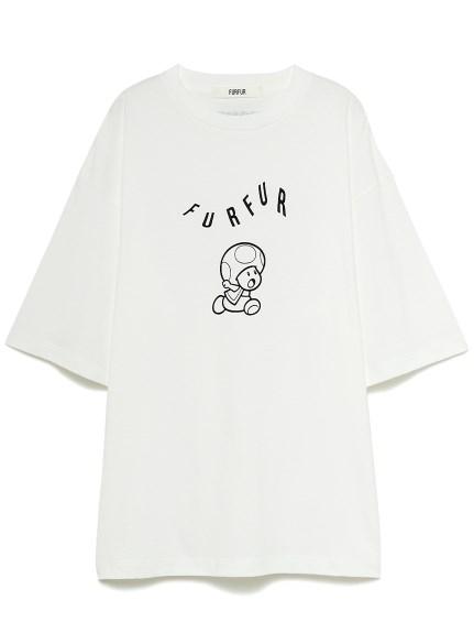 【スーパーマリオ 限定商品】ユニセックスTシャツ(IVR-F)