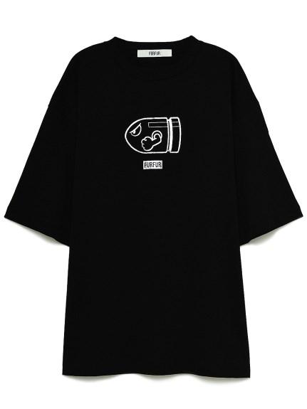 【スーパーマリオ 限定商品】ユニセックスTシャツ(BLK-F)