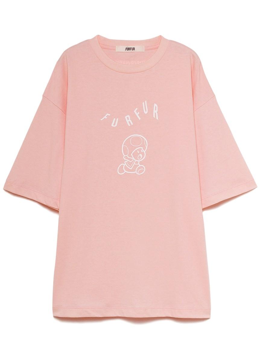 【スーパーマリオ 限定商品】ユニセックスTシャツ(PNK-F)