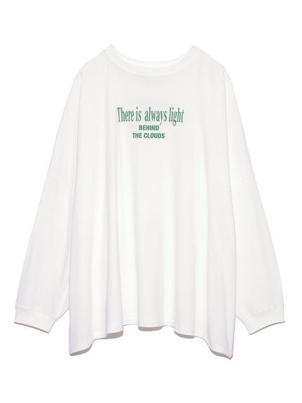 ロゴ長袖Tシャツ(WHT-F)