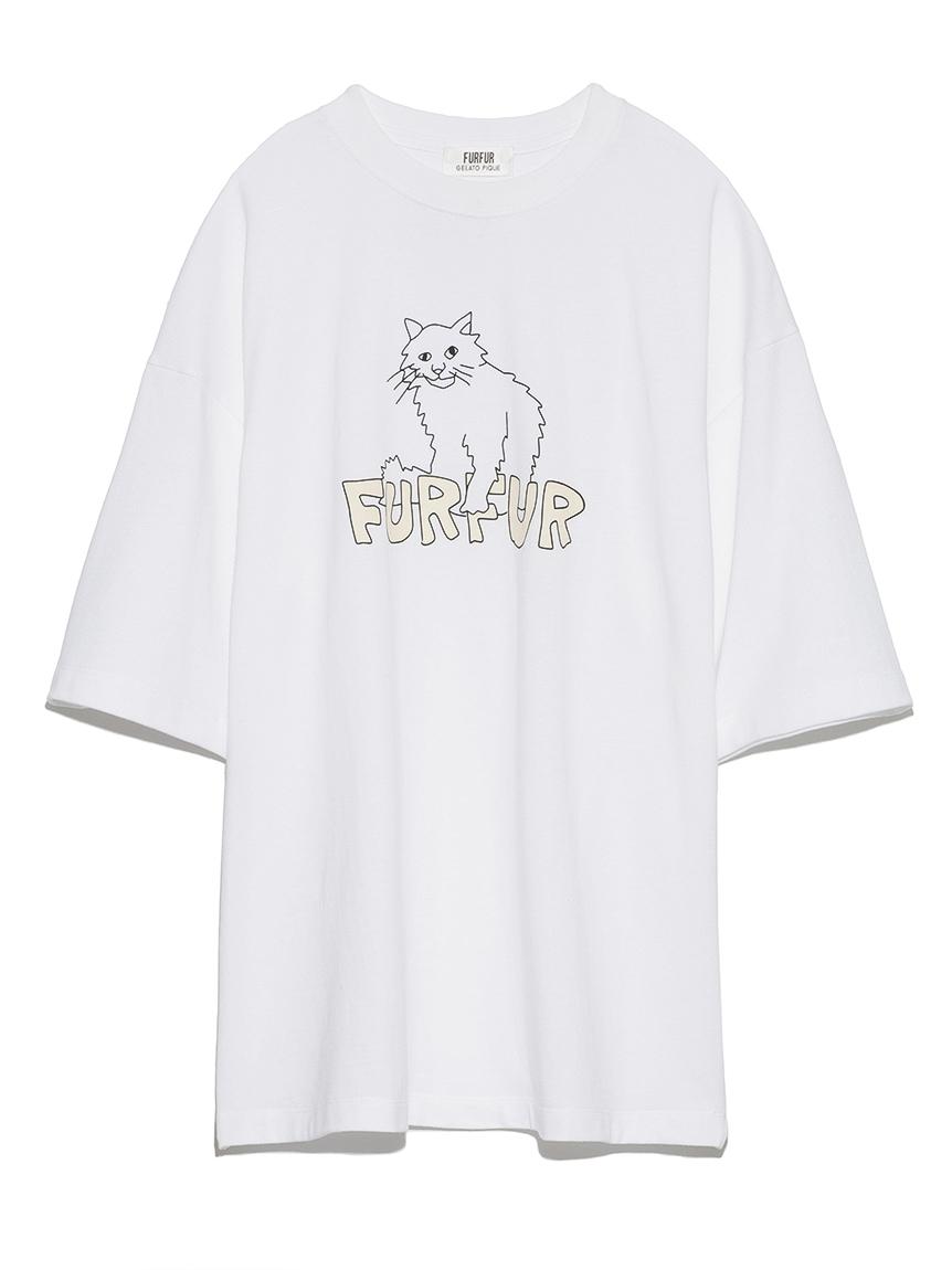 【FURFUR×gelato pique】アブストラクトTシャツ(OWHT-F)