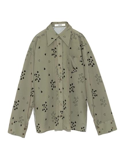 ハートプリントシャツ
