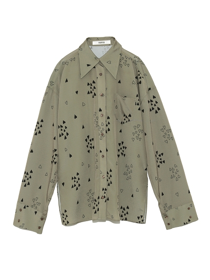 ハートプリントシャツ(KKI-F)