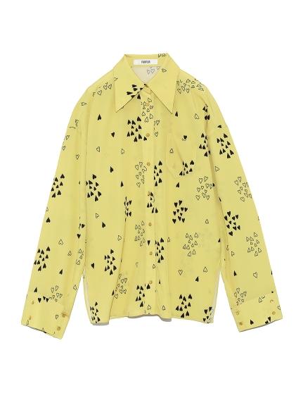 ハートプリントシャツ(YEL-F)