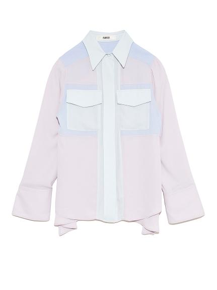 ミックスオフィサーシャツ(LGRY-F)