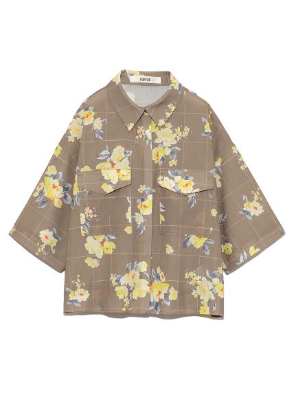 【限定】フラワーラインチェックシャツ(CML-F)