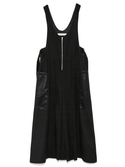 ステッチジャンパースカート(BLK-F)