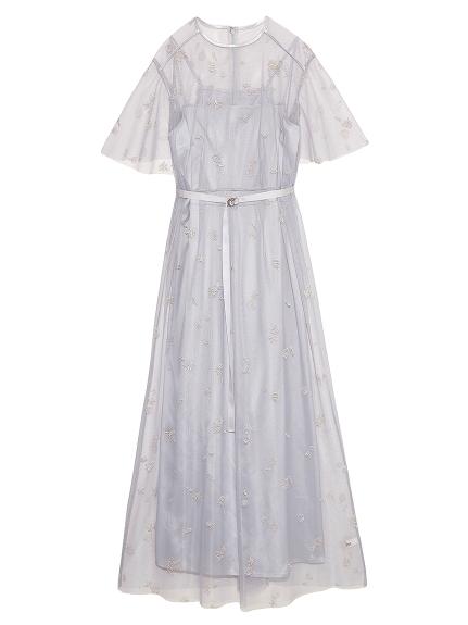マリンモチーフ刺繍ドレス(GRY-F)