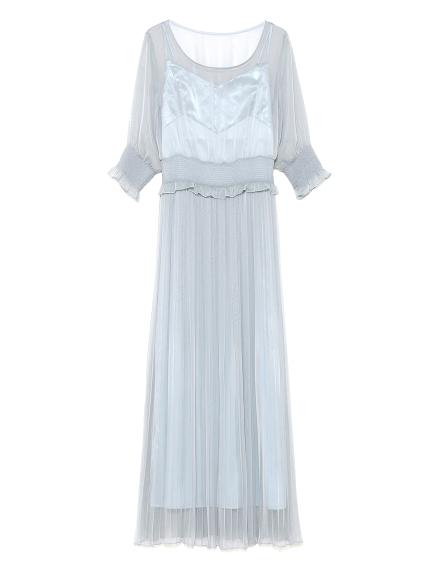 スモッキングプリーツドレス