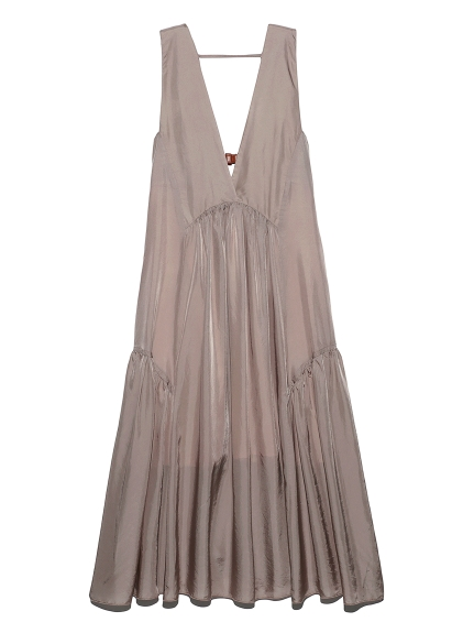 バックベルトノースリーブドレス