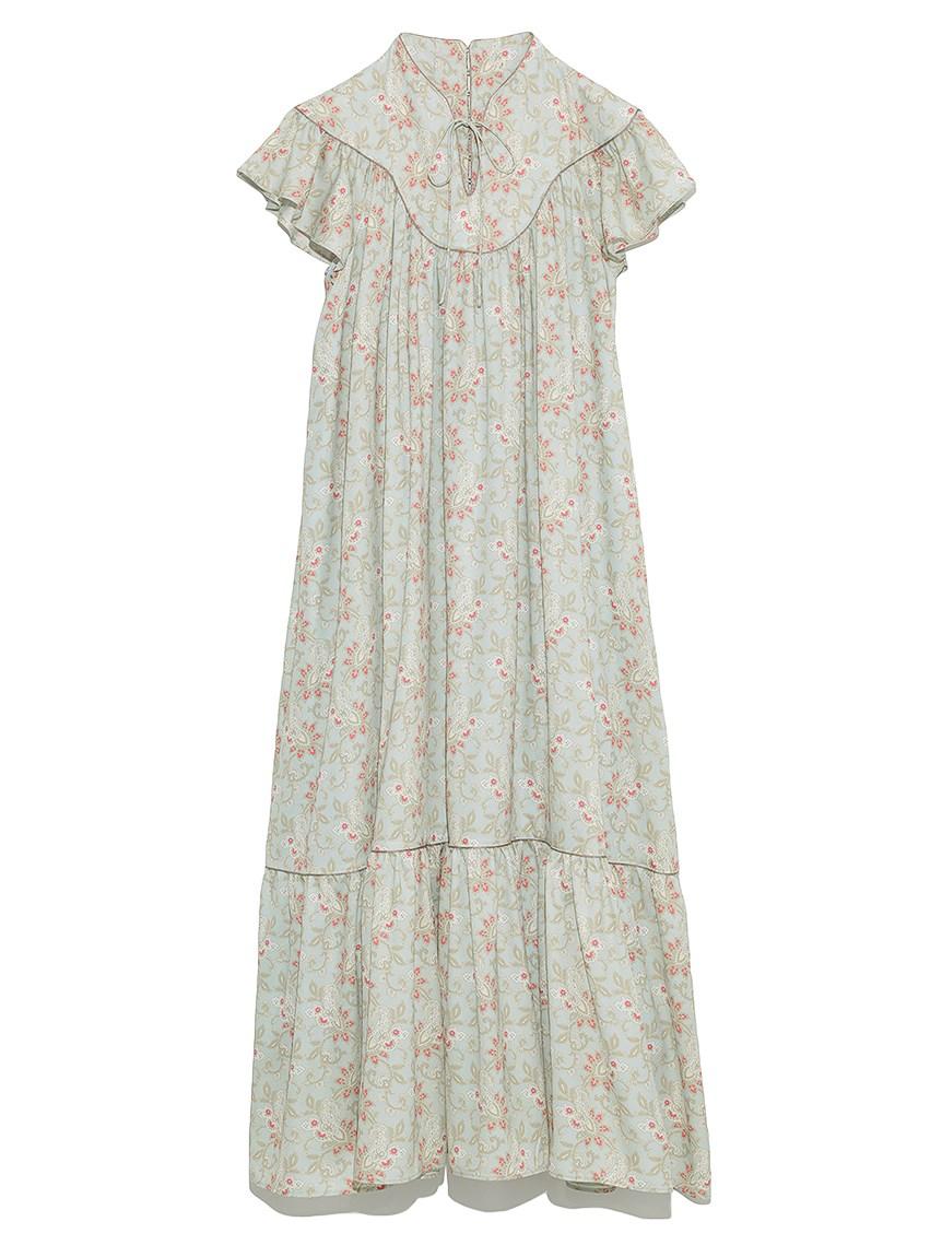カラーペイズリースモックドレス(MNT-F)