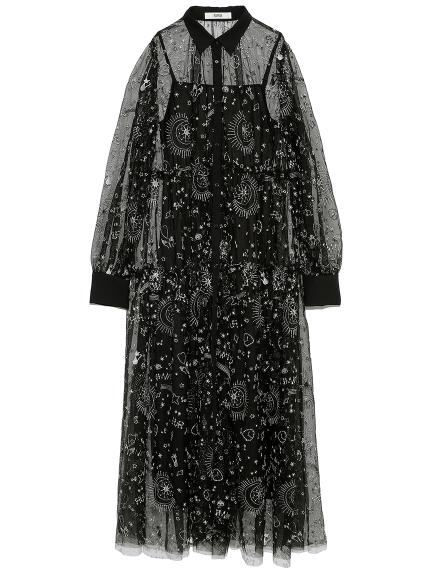 タロットモチーフ刺繍ドレス(BLK-F)