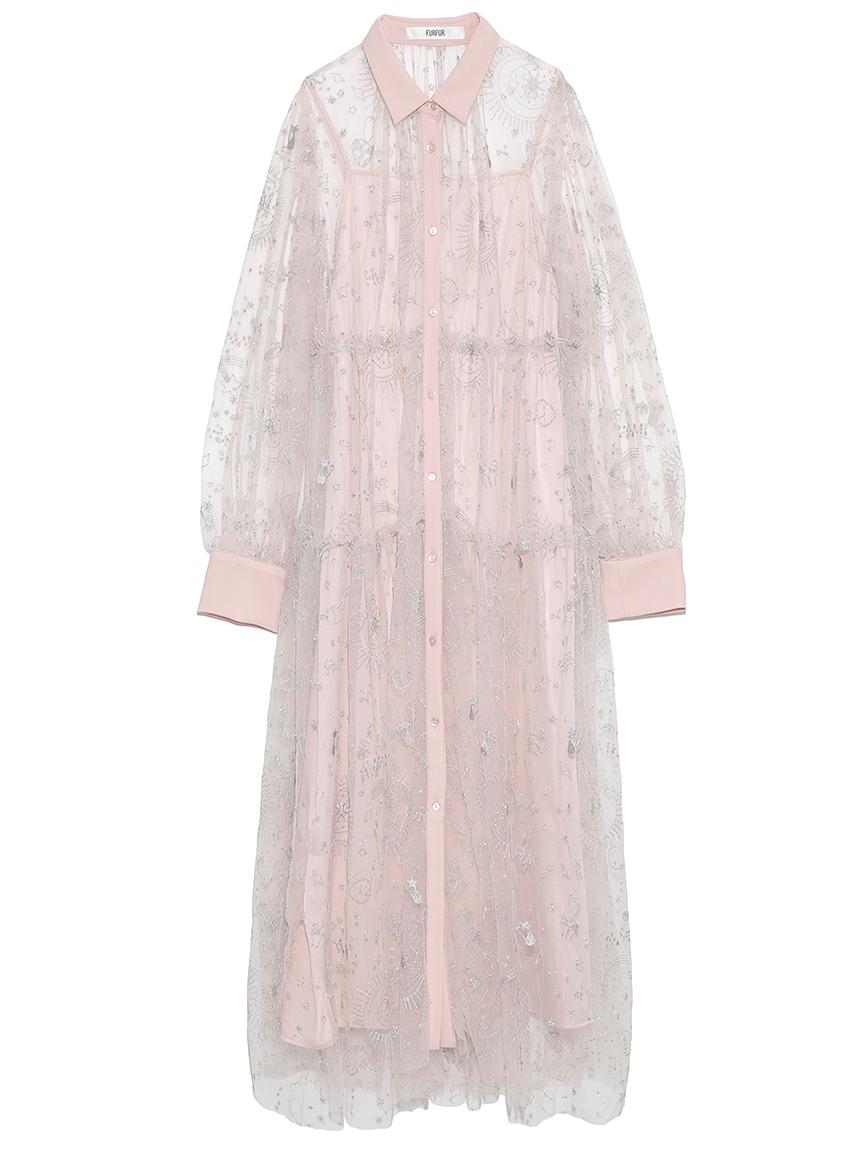 タロットモチーフ刺繍ドレス(PNK-F)