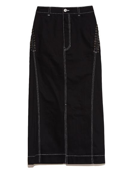 サイドレースアップタイトスカート(BLK-F)
