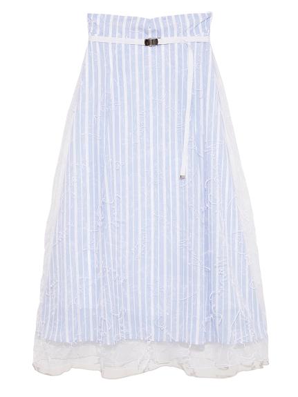 メッセージ刺繍スカート(BLU-F)