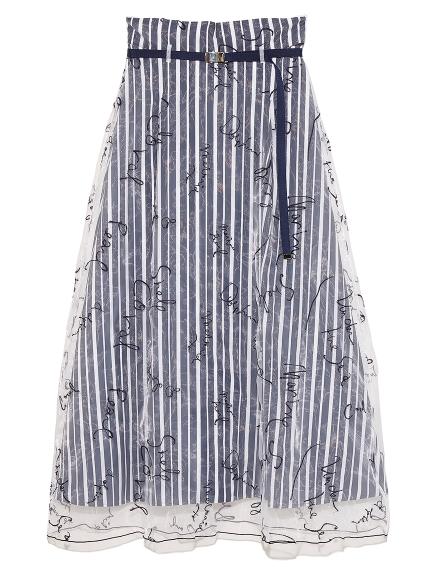 メッセージ刺繍スカート(NVY-F)