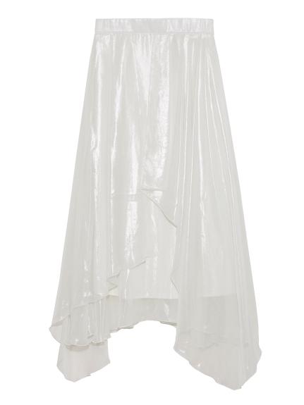 ネオンシースルースカート