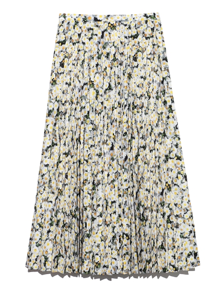 フラワーフォトプリントスカート