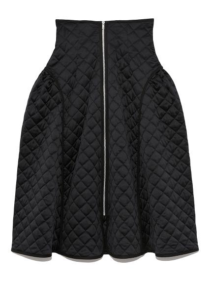 キルティングデザインスカート(BLK-F)