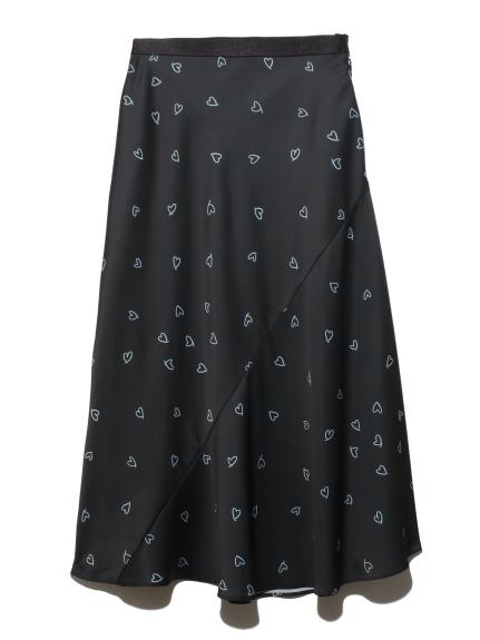 ドローイングハートスカート