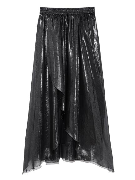 シースルーラップスカート(BLK-F)