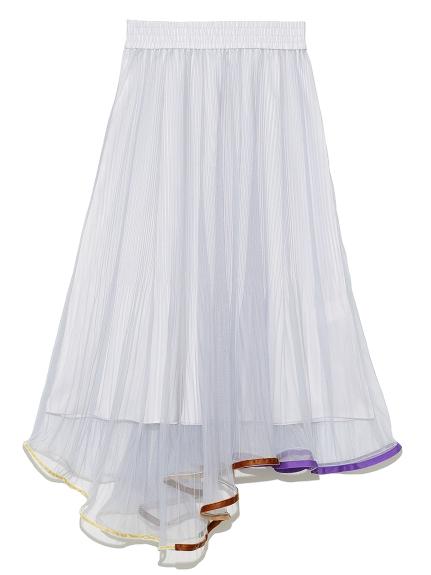 ヘムトリミングプリーツスカート(SAX-F)