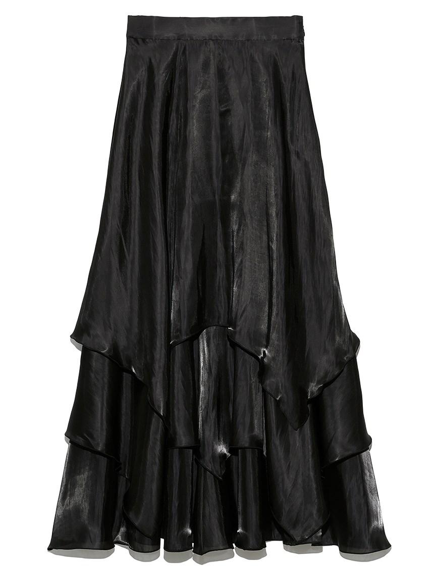 ランダムヘムシャイニースカート(BLK-F)